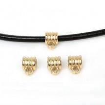 """Бейл для бижутерии """"Спираль"""". Держатель кулона+кольцо соединительное, цвет золото. Цена за 1 шт."""