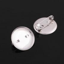 Основа для броши с круглым основанием сталь, 20 мм. Цена за 1 шт.