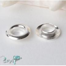 Концевики (оснастка) бусин, диаметр: 9 мм (набор 2 шт), цвет серебро