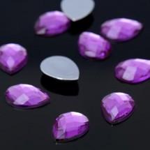 Стразы плоские капля. Кабошон размером 13*18 мм. Цвет: фиолетовый. Цена за 10 шт.