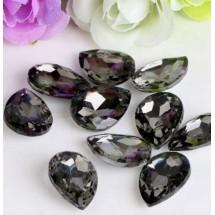 """Камни-стразы большие """"Капли"""" размер 13 х 18 мм. Цвет: серый. Цена за 1 шт."""