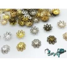 Концевики для бус Ромашки, диаметр: 14-15 мм (набор 10 шт), цвет MIX.