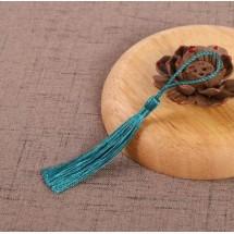 Кисточки декоративные шёлковые. Длина кисточки - 8,0-8,5 см, шнурка - 5,5 - 6,0 см. Цена за 3 шт. Цвет: морской волны.