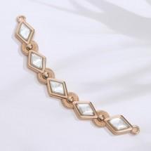 Украшение-горловина, 10,5 × 2 см, цвет золотой.