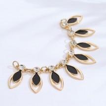 Украшение-горловина, 12,5 × 3 см, цвет золотой/чёрный.