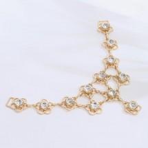 Украшение-горловина «Цветочки», 15 × 7 см, цвет золотой.