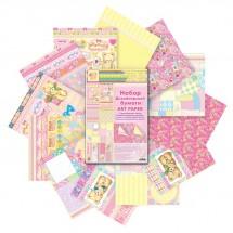"""Набор дизайнерской двухсторонней бумаги """"Наша малышка"""", 12 листов, 180 г/м"""