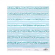 Бумага для скрапбукинга с клеевым слоем «Бирюзовая нежность», 20 × 21,5 см, 250 г/м
