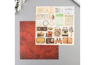 """Набор бумаги для скрапбукинга Craft Paper """"I've got your six"""" 20х20 см, 12 листов"""