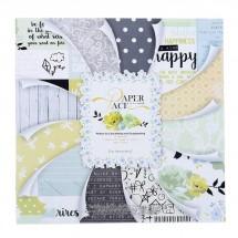 Набор бумаги для скрапбукинга «Аромат счастья», 24 листа 12 дизайнов + 1 лист с фольгированием, 30х30 см