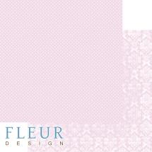"""Лист скрапбумаги """"Нежный розовый"""", коллекция """"Шебби Шик Базовая"""", 30,5 х 30,5 см, плотность 190 гр"""