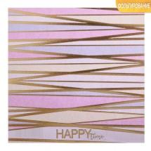 Бумага для скрапбукинга с фольгированием «Время быть счастливым», 15.5 × 15.5 см, 250 г/м