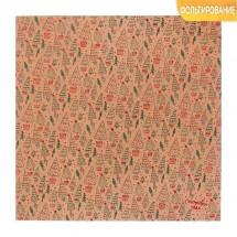 Бумага для скрапбукинга крафтовая с фольгированием «Ёлочки», 30.5 × 30.5 см, 250 г/кв. м