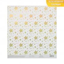 Бумага для скрапбукинга с голографическим фольгированием «Среди звёзд», 20 × 21.5 см, 250 г/м
