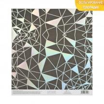 Бумага для скрапбукинга с голографическим фольгированием «Метаморфозы», 20 × 21.5 см, 250 г/м