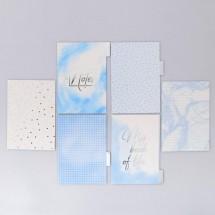 Набор картонных разделителей для планера «Голубое небо», 16 × 25, 6 листов