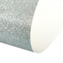 Картон дизайнерский Glitter (с блестками) Sadipal, серебро, 21,5*25,0, плотность  330 г/м²
