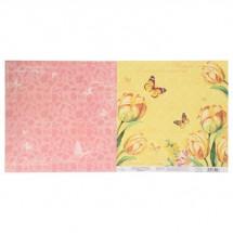 """Бумага для скрапбукинга """"Цветочная симфония"""" 29.5 x 29.5 см, 180 г/м"""