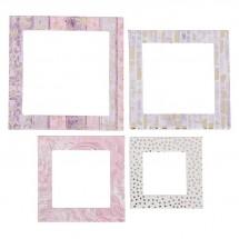 Рамочки декоративные для скрапбукинга с фольгированием «Зимняя романтика», 8 × 11 см