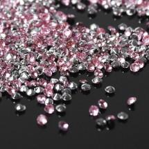 """Кристаллы мини """"Стразы Горный хрусталь"""" диаметр 2 мм. В упаковке 10 грамм. Цвет светло-розовый №13."""