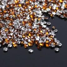 """Кристаллы мини """"Стразы Горный хрусталь"""" диаметр 2 мм. В упаковке 10 грамм. Цвет коричневый №25."""