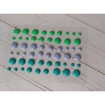 Клеевые эмалированные камушки (КАПЛИ перламутр) диаметр 8 мм, 6 мм и 3 мм