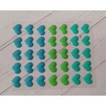 Клеевые эмалированные камушки (СЕРДЦЕ) 13 х 11 мм