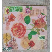 """Салфетка для декупажа """"Летние цветы"""" 33 х 33 см. Цена за 1 шт."""