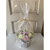 """Подарочный набор """"Мыльный букет 7 роз с декором"""" в подарочной упаковке - Ручная работа. Делается под заказ. Цветовая гамма согласовывается."""