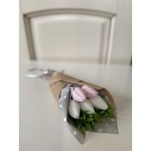"""Подарочный набор """"Мыльный букет Тюльпаны"""" - Ручная работа. Делается под заказ. Цветовая гамма согласовывается."""