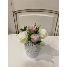 """Подарочный набор """"Мыльный букет Розы с декором в ажурном кашпо"""" - Ручная работа. Делается под заказ. Цветовая гамма согласовывается."""