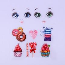 Термопереводки для кукол «Сладкое настроение», 14.5 × 23.5 см