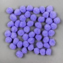Набор текстильных деталей для декора «Бомбошки» 50 шт. набор, размер 1 шт: 1,5 см, цвет сиреневый