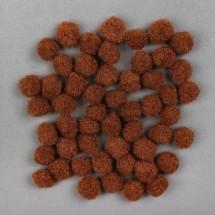 Набор текстильных деталей для декора «Бомбошки» 50 шт. набор, размер 1 шт: 1,5 см, цвет кокоса
