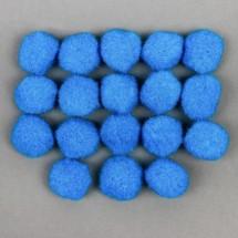 Набор текстильных деталей для декора «Бомбошки» 18 шт. набор, размер 1 шт: 2,5 см, цвет небесный