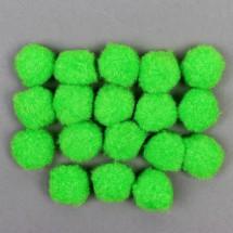 Набор текстильных деталей для декора «Бомбошки» 18 шт. набор, размер 1 шт: 2,5 см, цвет салатовый
