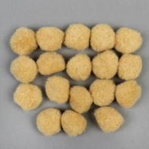 Набор текстильных деталей для декора «Бомбошки» 18 шт. набор, размер 1 шт: 2,5 см, цвет телесный