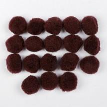 Набор текстильных деталей для декора «Бомбошки» 18 шт. набор, размер 1 шт: 2,5 см, цвет коричневый