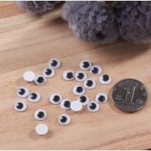 Глазки для игрушек пластмассовые круглые. Диаметр глазок - 7 мм.Цена за 10 шт.