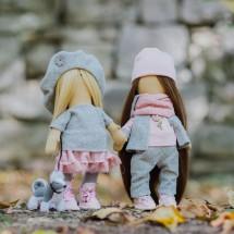 Интерьерные куклы «Подружки Вики и Ники- на прогулку» набор для шитья, 15,6 × 22.4 × 5.2 см