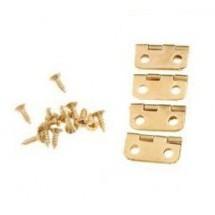 Соединительные петли  с скруглёнными углами малые золото (набор из 2 шт. +  8 шт. мини-саморезов),  1,6 х 1,3 см