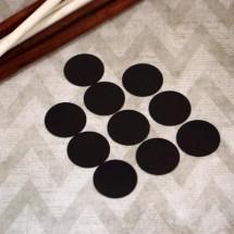 Круги из магнитного винила 0,4 мм, диаметр 35 мм (10 штук).