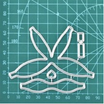 """Набор ножей для вырубки  """"Заготовка для бантика"""", 4 элемента"""