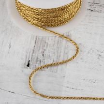 Нить для плетения d = 2 мм, цвет золотой, цена за 1 метр