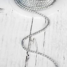 Нить для плетения d = 3 мм, цвет серебряный, цена за 1 метр