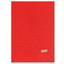 Ткань на клеевой основе «Красная в белый горошек», 21 х 30 см. Цена за 3 шт.