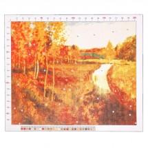 Канва для вышивания с рисунком «Левитан. Золотая осень» 47 х 39 см