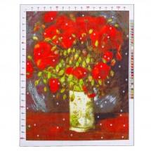 Канва для вышивания с рисунком «Ван Гог. Ваза с красными маками», 47 х 39 см
