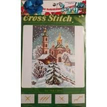 """Набор для вышивания крестиком """"Зимняя церковь"""", 13 х 20 см."""