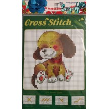 """Набор для вышивания крестиком """"Маленькая собачка"""", 13 х 20 см."""